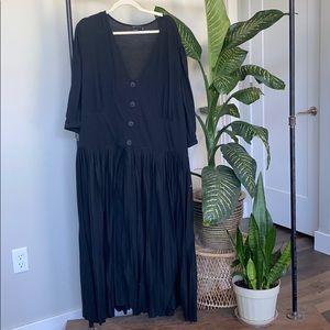 ASOS Black Dress w/ Buttons